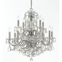 Crystorama Imperial Collection 12-light Polished Chrome/Swarovski Strass Crystal Chandelier