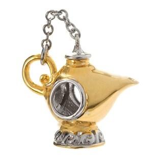 Michael Valitutti Palladium Silver Two-tone Genie Lamp Slide-on Charm