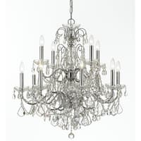 Crystorama Imperial Collection 12-light Polished Chrome/Crystal Chandelier