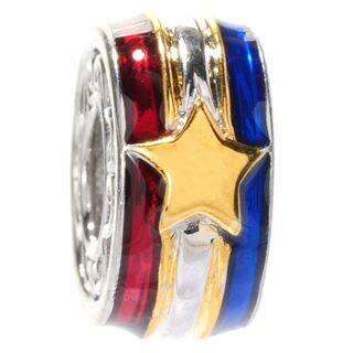 Michael Valitutti Palladium Silver Enameled Stars & Stripes Slide-on Charm|https://ak1.ostkcdn.com/images/products/14427275/P20994339.jpg?impolicy=medium
