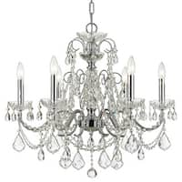 Crystorama Imperial Collection 6-light Polished Chrome/Swarovski Elements Strass Crystal Chandelier