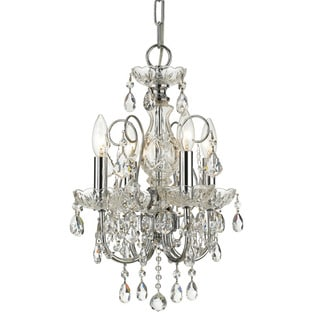 Crystorama Imperial Collection 4-light Polished Chrome/Swarovski Spectra Crystal Mini Chandelier