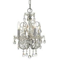 Crystorama Imperial Collection 4-light Polished Chrome/Swarovski Strass Crystal Mini Chandelier