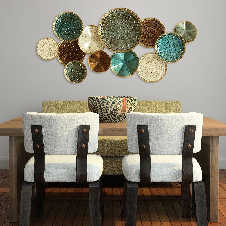 Shop Palm Canyon Marguerite Home Multicolor Metal Plates