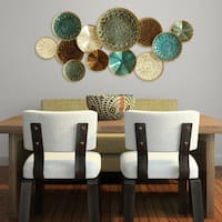 Stratton Home Multicolor Metal Plates Wall Decor