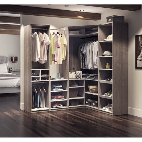 Cielo by Bestar Classic Corner Walk-In Closet