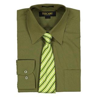 Kelly green long sleeve dress shirt