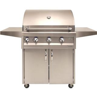 "Artisan Professional - 36"" Two Burner Grill on Cart with Rottiserie & Light"