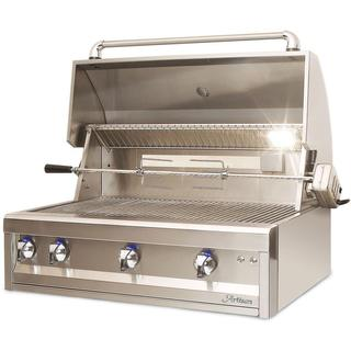 "Artisan 32"" Two Burner Grill Head with Rottiserie & Light"