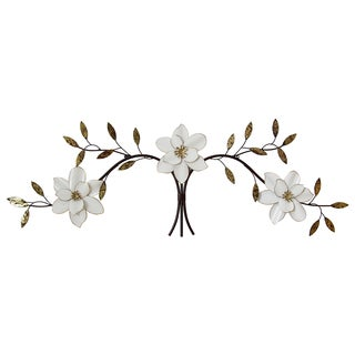 Stratton Home Decor Over the Door White Blooms Wall Decor