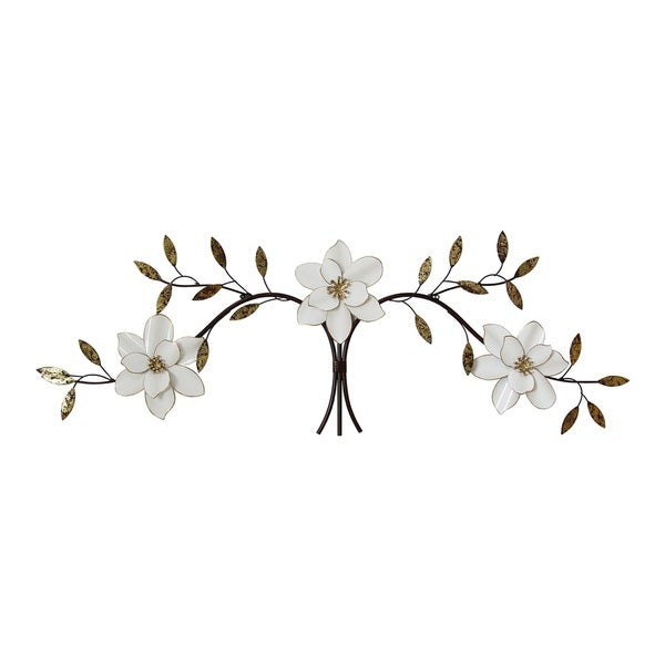 Stratton Home Decor Over the Door White Blooms Wall Decor - Free ...