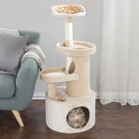 "PETMAKER 4-Tier 43"" Cat Tree Condo with Tunnel"