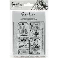 """Crafty Individuals Unmounted Rubber Stamp 3.5""""X5"""" Pkg-It's A Christmassy World"""