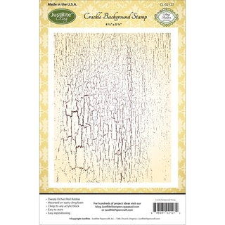 JustRite Papercraft Cling Background Stamp 4.5X5.75-Crackle
