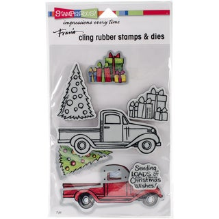 "Stampendous Cling Stamps & Stencils 5""X7""-Truck Tidings"