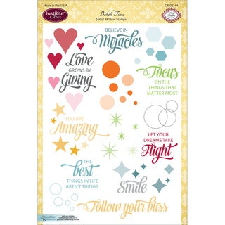 JustRite Papercraft Clear Stamps 6X8-Bokeh Time