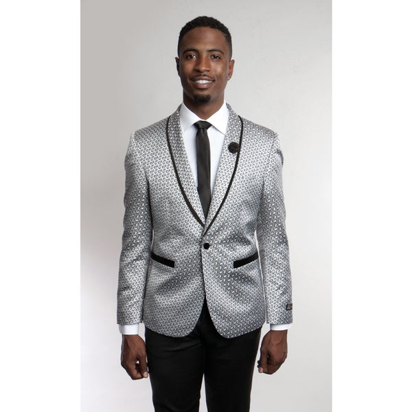 Tazio Mens Grey Blazer