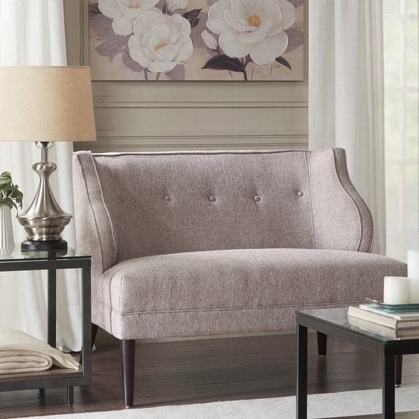 Shop Madison Park Armelle Grey Multi Tufted Round Arm