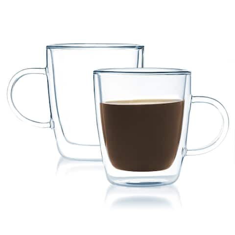 JavaFly 8-ounce Double-walled Coffee or Tea Glass 8 oz (Set of 2)