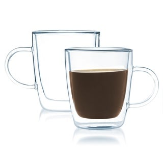 JavaFly 8-ounce Double-walled Coffee or Tea Glass (Set of 2)
