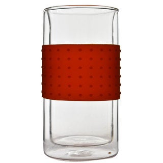 Javafly Coffee Company Rubber Grip Glass 12-ounce Cup (Set of 2)