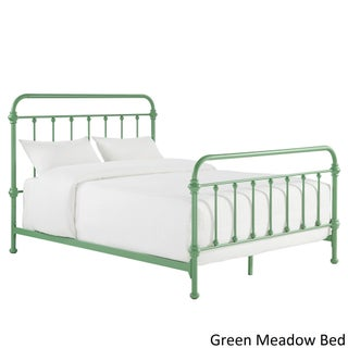 Giselle II Metal Bed iNSPIRE Q Modern (Option: Full - Green Meadow Complete Bed)