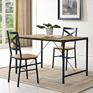 Carbon Loft Edelman Rustic Angle Iron 48-inch Barnwood Dining Table