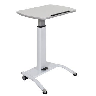 Offex White MDF Pneumatic Height-adjustable Lectern