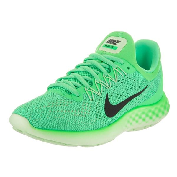 f4ef6ff77ced1 Shop Nike Women s Lunar Skyelux Electro Green Mesh Running Shoe ...