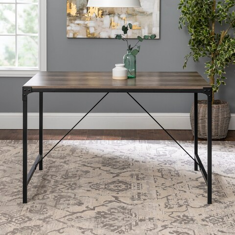 Rustic Angle Iron 48-inch Driftwood Dining Table