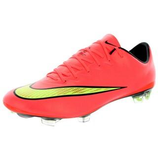 Nike Men's Mercurial Vapor X Fg Pink 9.5 Men US Soccer Cleats