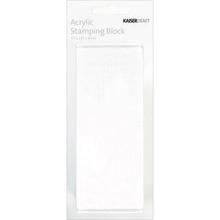 "Acrylic Stamping Block 2""X5.25""X.25""-"