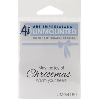 Art Impressions Christmas Cling Rubber Stamp 4X3-Warm Your Heart