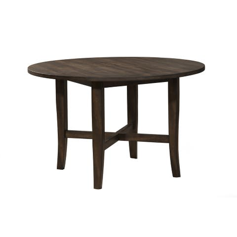Alpine Arendal Round Dining Table - Oak