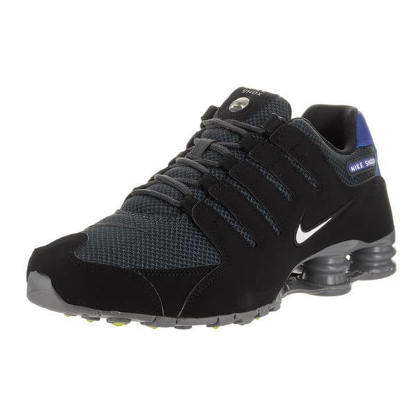online store 8e38c bfec2 Shop Nike Men's Black Nubuck Shox NZ SE Running Shoes - Free ...