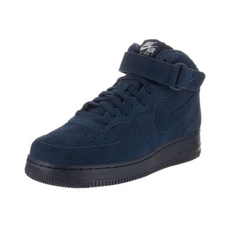 Nike Men's Air Force 1 Mid '07 Blue Suede Basketball Shoes