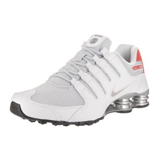 Nike Men's Shox NZ SE White Leather Running Shoes