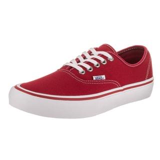 Vans Men's Authentic Pro Red Canvas Skate Shoes
