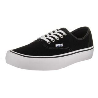Vans Men's Authentic Pro Black Suede Skate Shoes