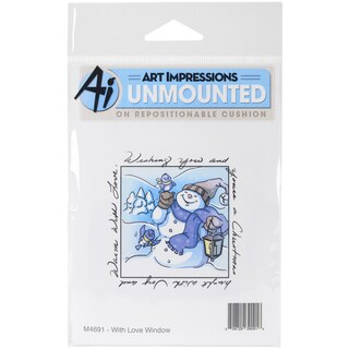 Art Impressions Windows To The World Cling Stamp 4X5.25-With Love Window
