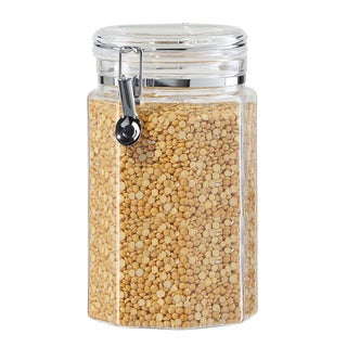 Oggi Clear Acrylic Hexagon Kitchen Food Storage Canister