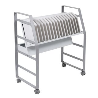 Offex Stainless Steel 16 Tablet/Chromebook Open Charging Cart