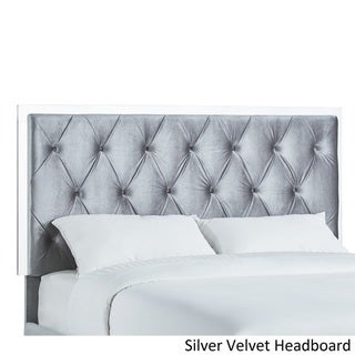 Anya Full Size Velvet Button Tufted Headboard and Bed by INSPIRE Q