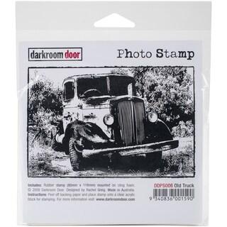 """Darkroom Door Cling Stamp 4.5""""X3""""-Old Truck"""
