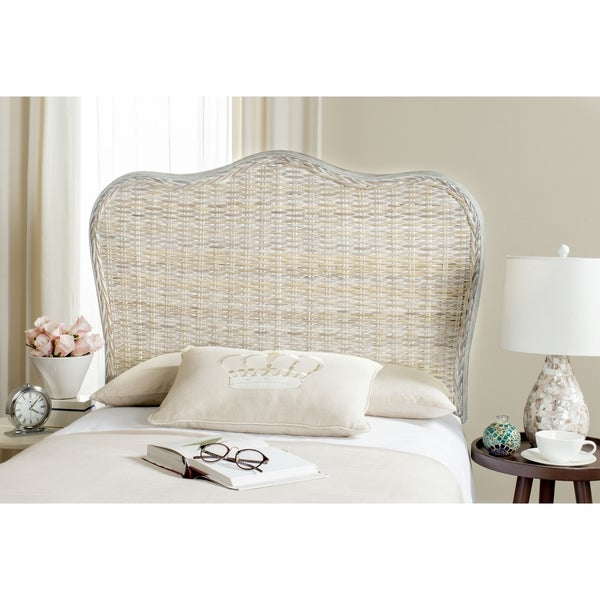 shop safavieh imelda white washed headboard twin on sale free shipping today overstock. Black Bedroom Furniture Sets. Home Design Ideas