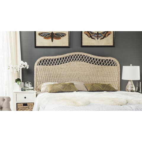 Safavieh Sephina White Washed Rattan Headboard (Full)