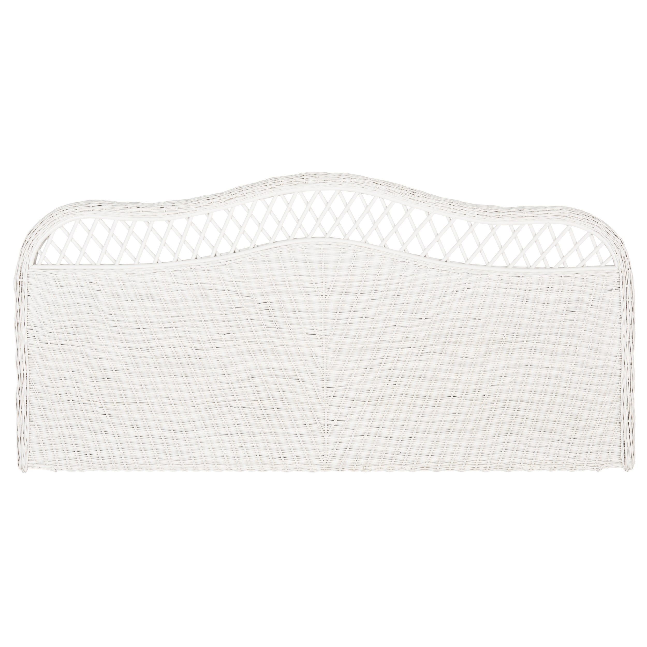 Full Safavieh Sephina White Rattan Headboard