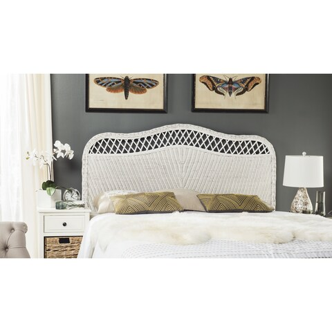 Safavieh Sephina White Rattan Headboard (Queen)