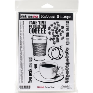 "Darkroom Door Cling Stamps 7""X5""-Coffee Time"