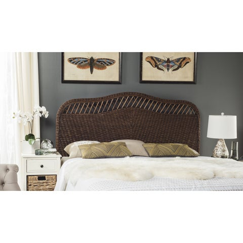 Safavieh Sephina Brown / Multi Rattan Headboard (Queen)